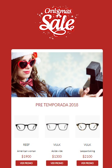 template de email marketing para navidad responsivo y gratuito