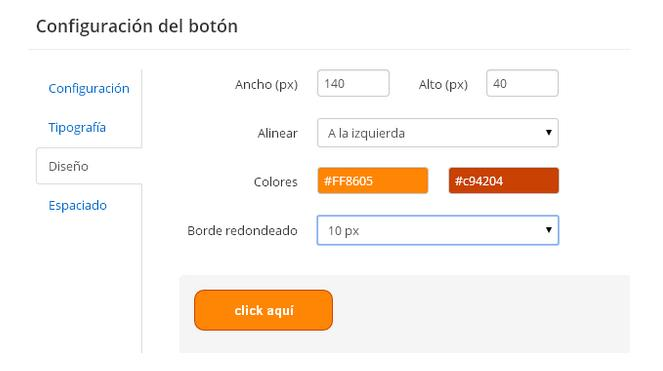 herramienta boton email marketing