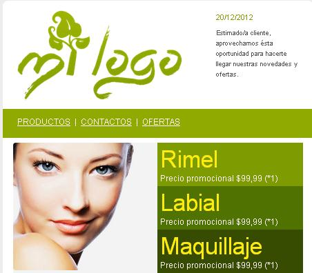 plantilla de email marketing catalogo de productos de belleza