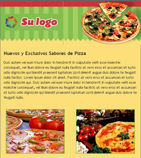 plantilla de email marketing para delivery de viandas y comidas