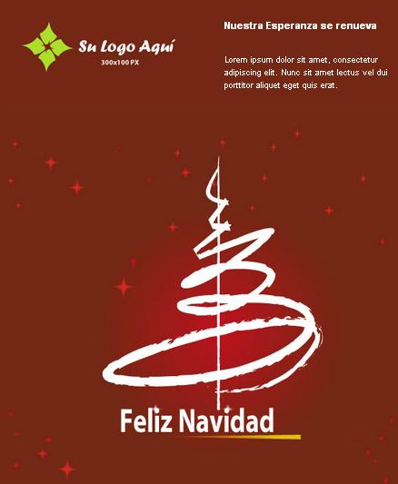 plantilla de email marketing para navidad