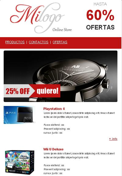plantilla de email marketing para para ofertas