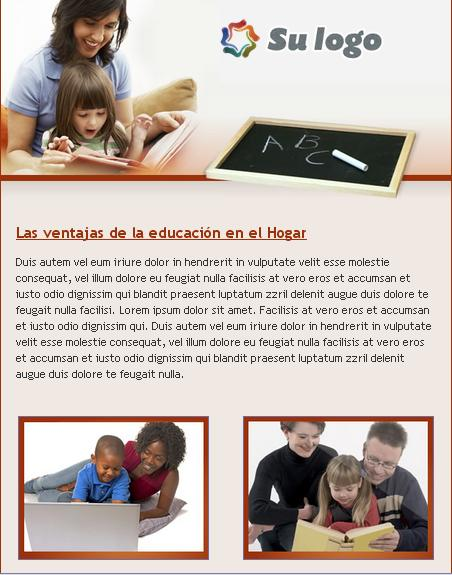 plantilla para email marketing de servicios educativos