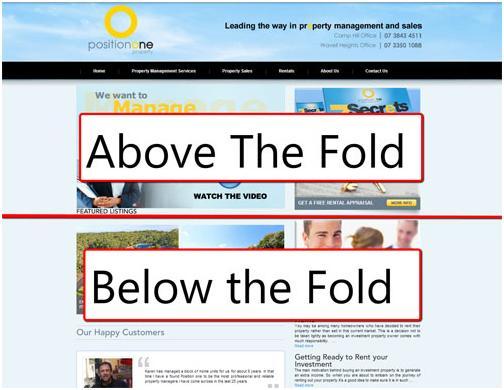 ejemplo de above y below the fold