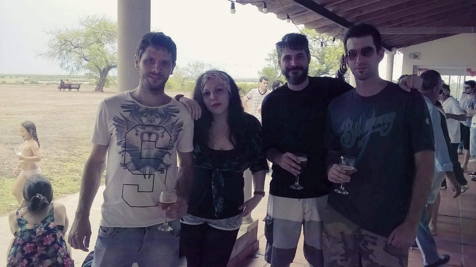 Ivana Nazareno, Matias Gonzalez, Alejandro Barcelo en Desdedida de año 2015 DonWeb.