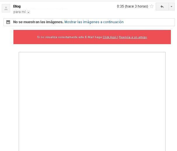 email marketing con imagenes bloqueadas