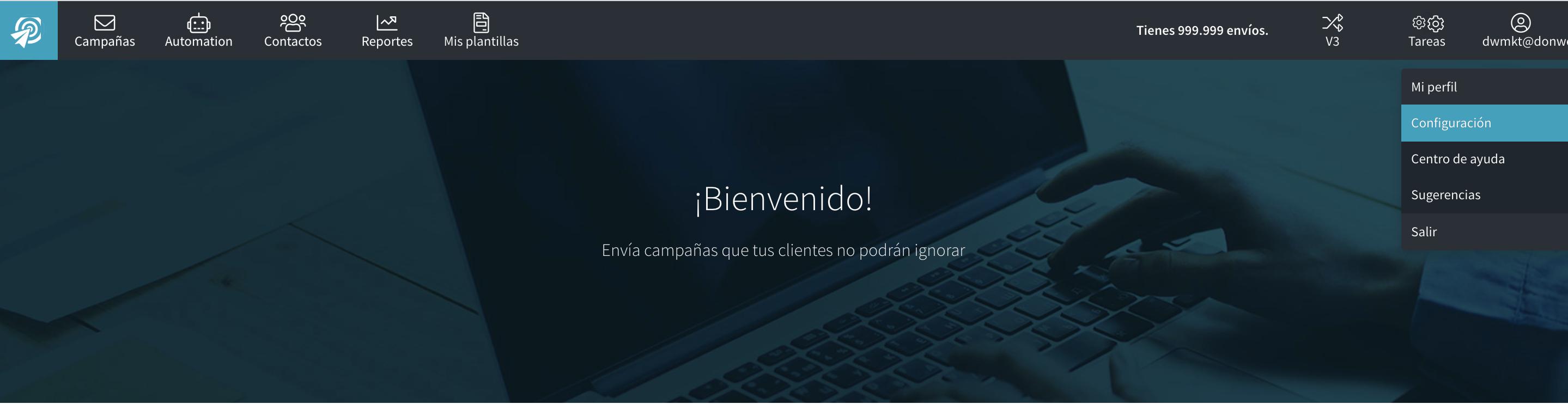 Configuración de EnvíaloSimple