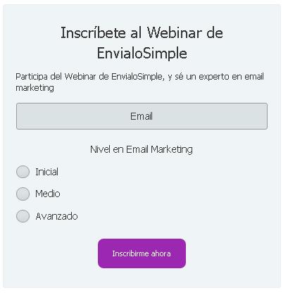agregar campos personalizados a formulario de suscripción de  email marketing