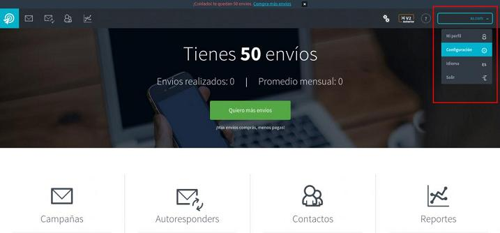 configuracion de autenticacion de dominio en email marketing