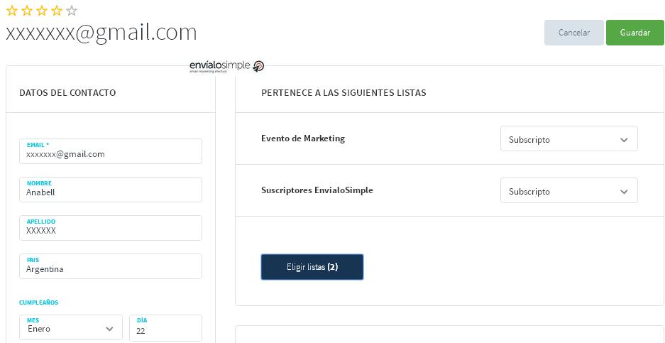 listas y base de datos de email marketing