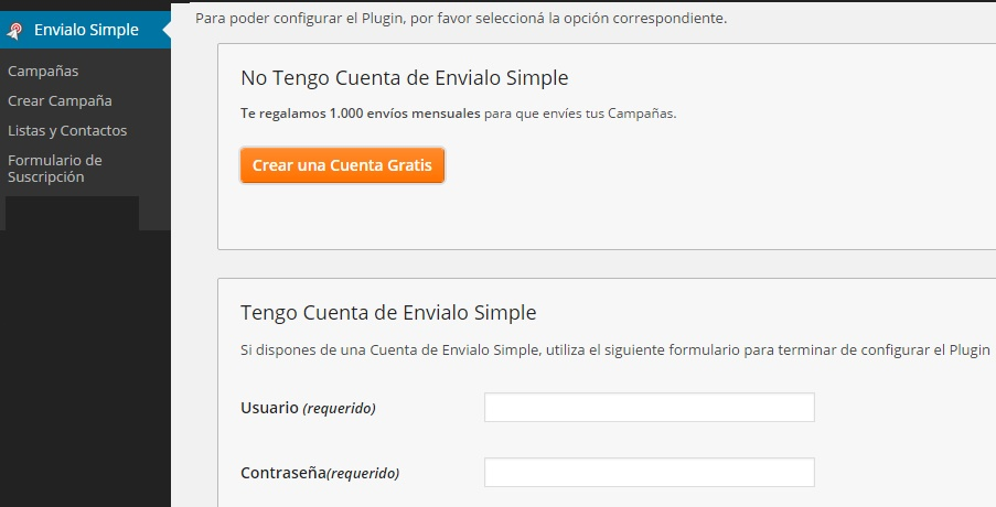 configurar plugin para enviar newsletter de wordpress