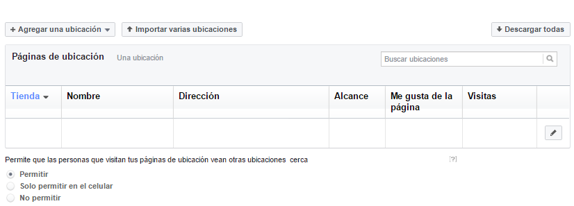 como agregar sucursales en facebook