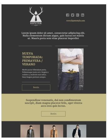 plantilla email marketing moda