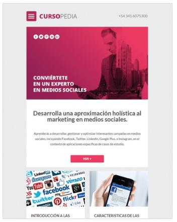 plantilla email marketing educacion
