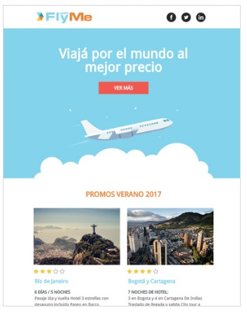 template email marketing turismo