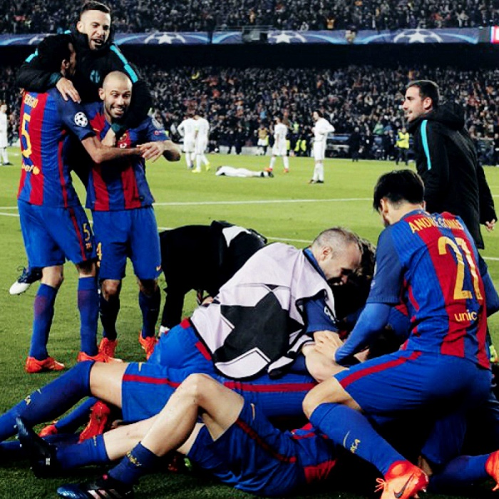 gol de barcelona contra PSG de sergi roberto