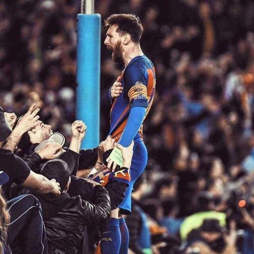 messi festejando gol de barcelona contra PSg