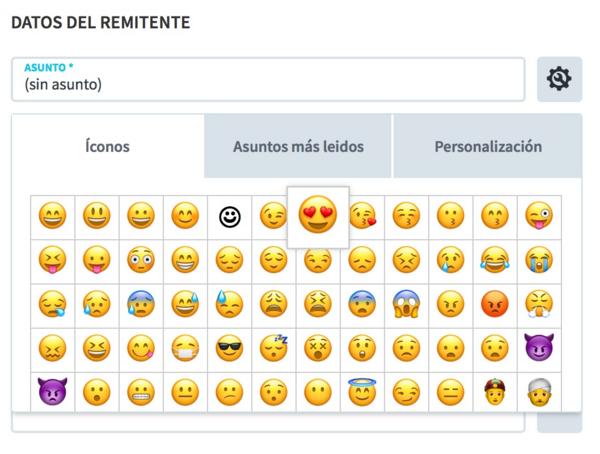 agregar emoji en email marketing