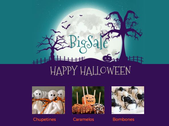 plantilla de email marketing para halloween