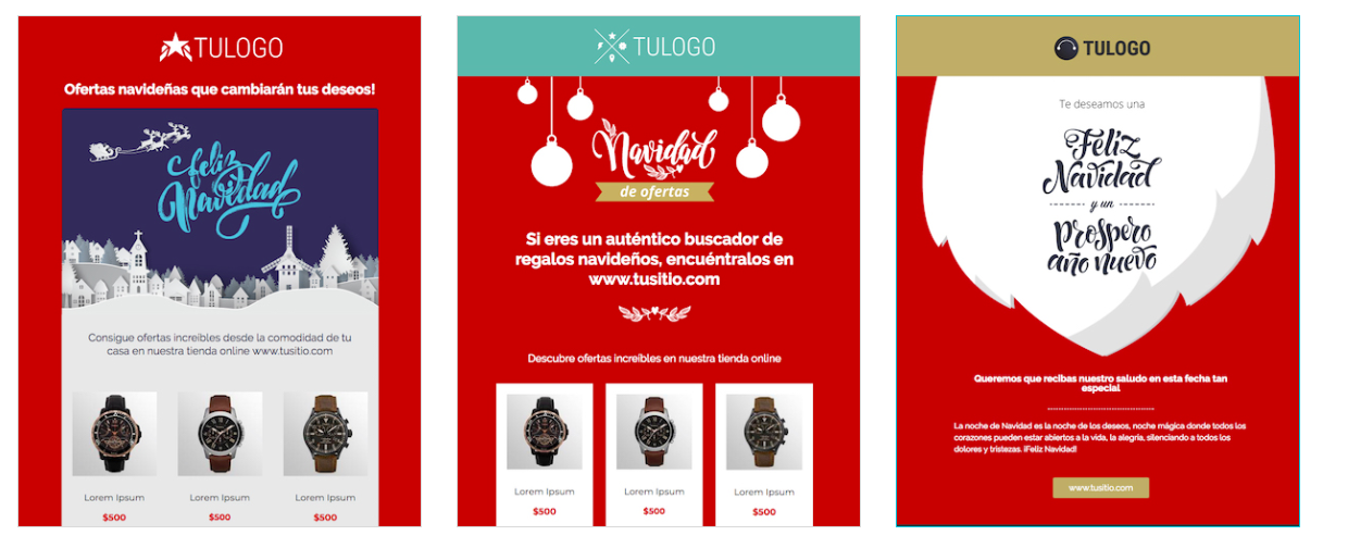 plantillas de email marketing de navidad