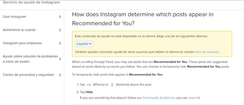 instagram recomendados para usted