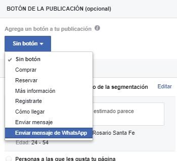 enviar mensaje de whatsapp en facebook