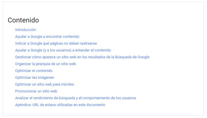 guia de seo de google
