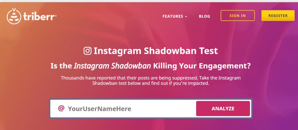 shadowban tester para instagram