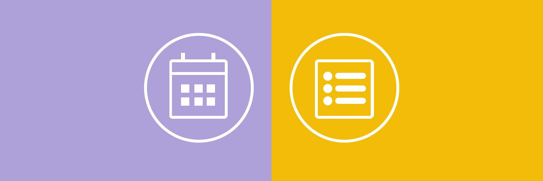 calendario vs listado en EnvíaloSimple